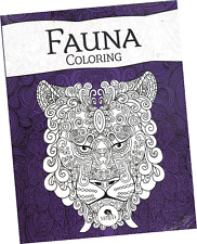 """FAUNA"" ADULT COLORING BOOK, FROM MEXICO. LIBRO PARA COLOREAR DE ADULTOS"