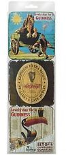 Six Guinness Cork Backed coasters (wood look Gilroy designs)  (sg)