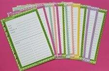 Filofax or Kikki A5 recipes note pages x 15 - 120 gsm!