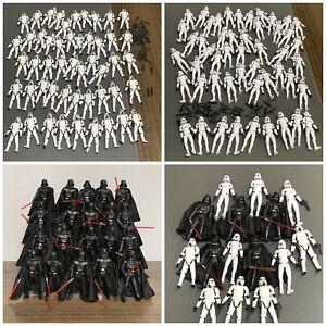 "Lot Star Wars Stormtrooper Darth Vader Clone Trooper Figurine 3.75"" Film Jouets"