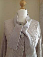 River Island Womans Cardigan. Size 10. Cream and silver. With mohair. New.