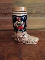 Vintage Cowboy Boot Stein Made In Western Germany