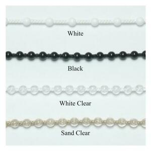 4.5mm #10 Plastic Bead Chain for Clutch Roller Shades ~ 10 feet with Connector