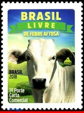 18-03 BRAZIL 2018 FOOTH-AND-MOUTH DISEASE, VACCINATION, NELLORE OX, ZEBU, MNH