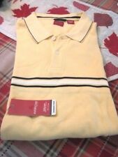 Mens Arrow Polo Golf Style Shirt Size  XXL 2X  Short Sleeve Cotton Yellow NWT