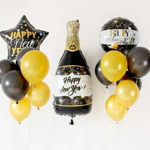 New Year Shooting Star Bottle Latex Balloon Party Celebration