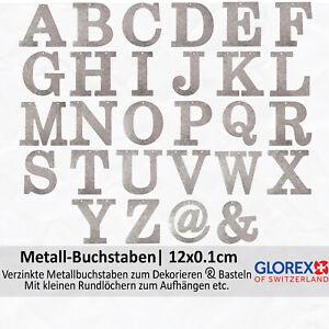 Glorex Metall Buchstaben/Zeichen, flach, 12x0.1 cm, zum Basteln und für Deko