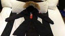 "2017 ""LATEST CONCEPT"" RED LABEL BLACK CANADA GOOSE KENSINGTON MED PARKA JACKET"