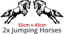 JUMPING HORSES Sticker Decal Vinyl For Horse Box / Lorry / Truck / Van / Trailer