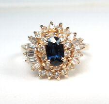 SAPPHIRE .50 ct DIAMOND .40 ct YG 14k Ring - Gift Boxed - GAL APPRAISAL