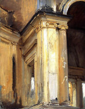 Art oil painting Sargent - Great building - Roman Architecture in landscape