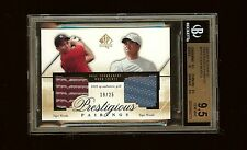 TIGER WOODS 2005 SP AUTHENTIC GOLF PAIRINGS DUAL SHIRT #19/25  BGS 9.5 #0697