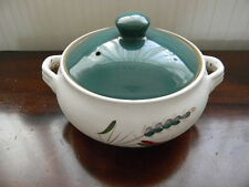 """DENBY ' GREENWHEAT ' 9"""" COVERED VEGETABLE  / CASSEROLE DISH"""