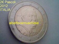 2 euro ITALIE 2012 100 ans anni mort Giovanni PASCOLI ITALIA ITALIEN ITALY
