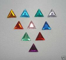 Acrylic Flatback Stones Triangle shape 8mm 90 pc.