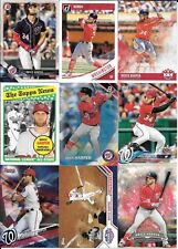 Lot of 20 Different Bryce Harper Cards Nationals