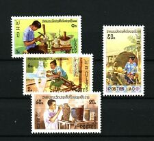 Lao Artisans mnh set of 4 stamps 1977 Laos #283-6 Silversmith Weaver Potter