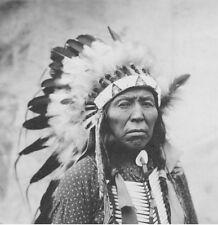 Native American Indian Lakota Chief Flying Hawk  5x5 Inch Reprint Photo