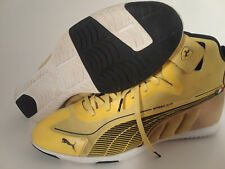 Puma Ferrari Speed Cat Super Lite Mens Yellow Athletic Racing Shoes size 10