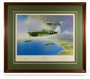 WW2 RAAF Kitty Hawk Military Aviation Art Print Signed Sir John Gorton