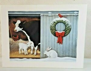 LANG Deluxe Christmas Cards  CHRISTMAS MORNING  Printed on Linen Embossed paper