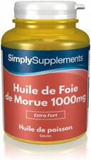 Huile de Foie de Morue 1000mg - Favorise une bonne santé générale - 120 Gélules