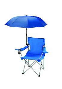 OZARK TRAIL Chair Umbrella With Universal Clamp, BLUE UPF 50, Clips on Chair NWT