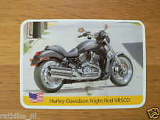 INFO CARD MOTORCYCLE HARLEY-DAVIDSON NIGHT ROD VRSCD