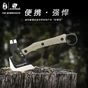 Mini portable outdoor tactical axe, G10 non-slip handle 440 blade 58HRC camp