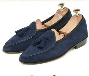 Mens Tassel Suede Leather Moccasin Gommino Slip on Loafers Belgian Shoes British