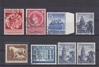 DR - Bestand von 12 Steckkarten mit Marken des Deutschen Reich - bitte ansehen !