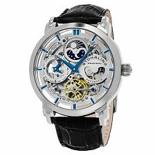 Stuhrling Original Men's 371.01 Legacy Automatic Self Wind Black Genuine Leather