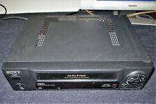 New listing Sony Slv-440 4 Head Vhs Vcr Video Cassette Player - Tested Works Great