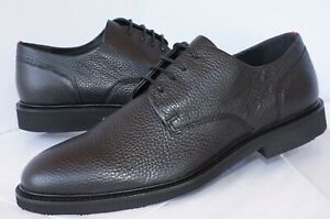 New Hugo Boss Men's Shoes Atlanta Derb Grbl Size 10.5 Black Leather Oxfords