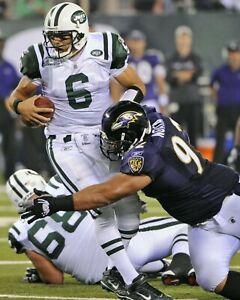 HALOTI NGATA 8X10 PHOTO BALTIMORE RAVENS PICTURE NFL VS JETS