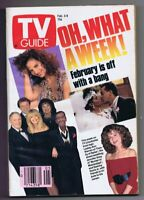 ORIGINAL Vintage February 3 1990 TV Guide No Label Sammy Davis Jr Lesley Warren