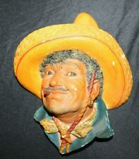 Bossons PANCHO #16 Chalkware Character Head Wall hanging art made in England