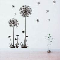 QT-0047 DIY Wall Sticker Dandelion Flower Wallpapers All-match Style Bedroom