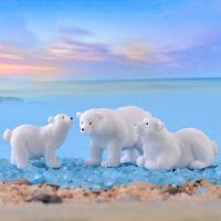 polar bear Mini Miniature Fairy Garden Ornament Decor Pot Craft Accessories BDA