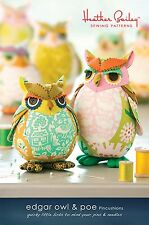 EDGAR OWL & POE SEWING PATTERN, From Heather Bailey Sewing Patterns, NEW