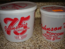 Johnson's Popcorn Storage Containers 10 oz. and 28 oz. Used once