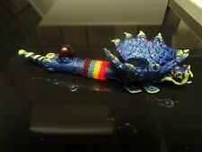 Flying Blue Dragon  Ceramic  Pipe. 5  screens < contains no glass   ( PM 2401 )