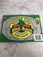 Vintage Dragon Zord Power Ranger Giant Flip-up Play Book Rare Mighty Morphin