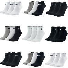 Nike 3 Pairs Mens Womens Socks Crew Ankle Quarter Cotton Low Cut No Show Sock