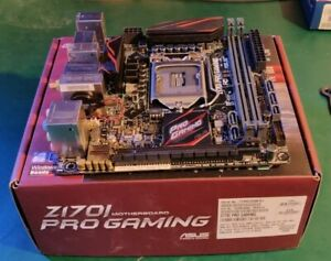 ASUS Z170i Pro Gaming Mini-ITX motherboard for LGA1151 CPUs up to i7 7700