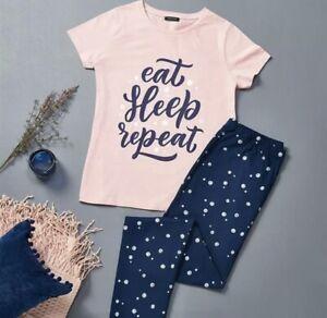 AVON Eat Sleep Repeat PJs Size Large 16-18. New Gift