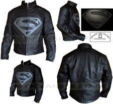 Superman Stile da uomo Nero / Grigio CE PROTEZIONE MOTO / MOTO Giacca in pelle