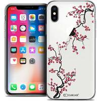 Coque Crystal Gel Pour iPhone X (10) Extra Fine Souple Summer Sakura