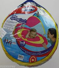 Swimways Step 00004000  1 Baby Pink & Yellow Spring Float Sun Canopy 9-24 Months Nip