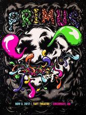 PRIMUS - 18x24, blacklight artist signed screenprint show poster - Cincinnati